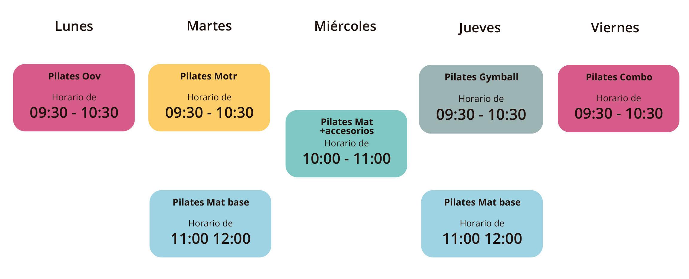 Horario de clases - mañanas / Tam Studio