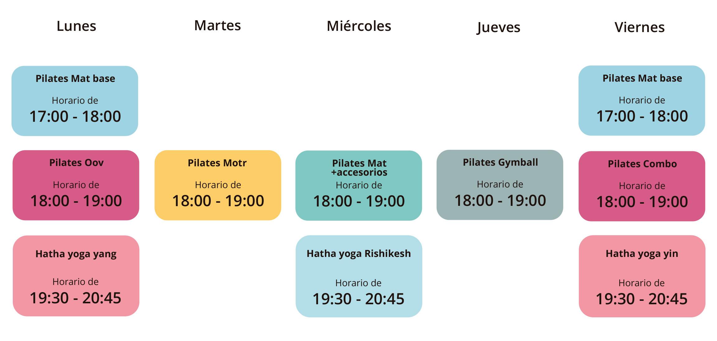 Horario de clases - tardes / Tam Studio